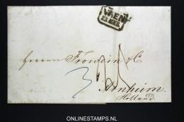 Österreich: 1852 Complete Letter Wien To Arnheim Holland - Autriche