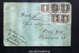 Österreich: Feldpost Letter Strip Nr 55 1 X 3 + 1x 2, Lublin To Wien - 1850-1918 Empire