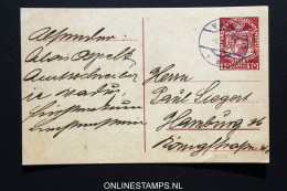 Lienchtenstein: Postkarte 1 Used Vaduz To Hamburg  1919 - Ganzsachen