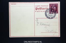 Liechtenstein: P 16 / P16 Postkarte 1938 - Stamped Stationery