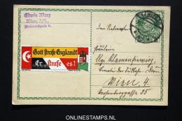 Osterreich Postkarte 1916 Gott Strafe England Etc - Entiers Postaux