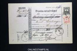 Ungarn Post-Begleitadresse 1876 - Ganzsachen