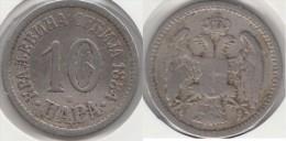 Serbia 10 Para 1884 Km#19  - Used - Serbia