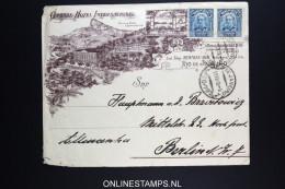 Brasil: Company Cover  Rio To Berlin Set Of 2 Stamps. - Brazil