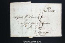 France Complete Letter  57 Lille - 1701-1800: Précurseurs XVIII