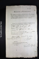 Kwitantie Van Fournissement 1810, 350.000 Gulden Oost-Friesland En Reiderland. Zeldzaam - Historical Documents