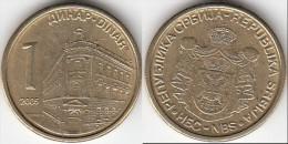 Serbia 1 Dinar 2005 Km#39 - Used - Serbia