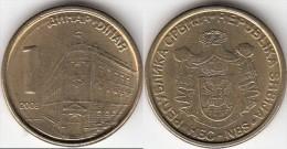 Serbia 1 Dinar 2006 Km#39 - Used - Serbia