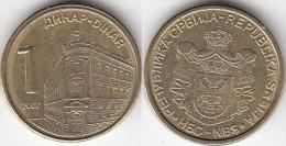 Serbia 1 Dinar 2007 Km#39 - Used - Serbia