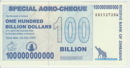 Zimbabwe 100 000 000 000 Dollars 2008 Pick 64 UNC - Zimbabwe