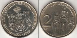 Serbia 2 Dinara 2007 Km#46 - Used - Serbia