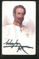 CPA Illustrateur Erzherzog Eugen Als Feldherr Et Kommandant Der Balkanstreitkräfte - Königshäuser