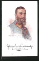 Künstler-AK Porträt Erzherzog Joseph Ferdinandez Von Österreich In Uniform, OB Der 4. Armee - Königshäuser