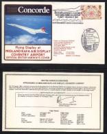 CONCORDE - AVIATION / 1981 VOL LONDRES - COVENTRY - ENVELOPPE ILLUSTREE (ref 6943) - Concorde