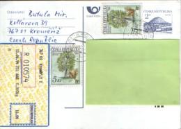 Czech Republic -Postal Stationery Postcard Registered 1994- Circulated From Kromeriz At Suceava,Romania - Cartes Postales