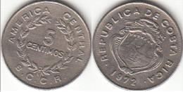 Costa Rica 5 Céntimos 1972 Km#184.2 - Used - Costa Rica