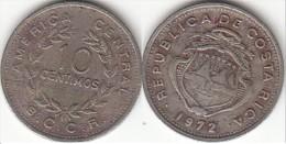 Costa Rica 10 Céntimos 1972 Km#185.2 - Used - Costa Rica