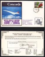 CONCORDE - AVIATION / 1982 PREMIER VOL VENISE - LONDRES  - ENVELOPPE ILLUSTREE (ref 6949) - Concorde