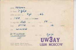 URSS  1962  - QSL - Carte QSL