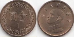 Taiwan 1 Dollar 1981 Km#551 - Used - Taiwan