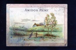 Amidon Rémy - Louvain - Gaillon - Paysage Automne - Pont Rivière Pécheur Eglise Chaumière Fumée Arbres - 10 731 - Other