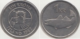 Islanda 1 Króna 1987 Km#27 - Used - Islanda