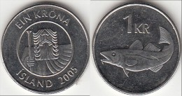 Islanda 1 Króna 2005 Km#27a - Used - Islanda
