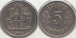 Islanda 5 Kronur 1969 Km#18 - Used - Islanda