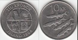 Islanda 10 Kronur 1984 Km#29.1 - Used - Islanda