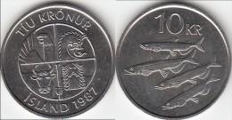 Islanda 10 Kronur 1987 Km#29.1 - Used - Islanda