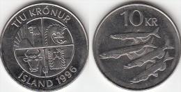 Islanda 10 Kronur 1996 Km#29.1a - Used - Islanda