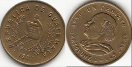 Guatemala 1 Centavo 1987 Km#275.3 - Used - Guatemala