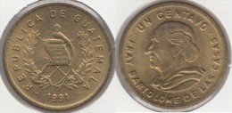 Guatemala 1 Centavo 1991 Km#275.3 - Used - Guatemala