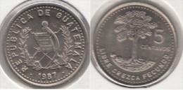 Guatemala 5 Centavos 1987 Km#276.4 - Used - Guatemala