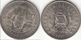 Guatemala 10 Centavos 1991 Km#277.5 - Used - Guatemala