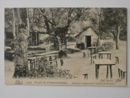 CPA 77 Forêt De FONTAINEBLEAU Fontaine Sanguinède Vallée De La Solle 1910 - Fontainebleau