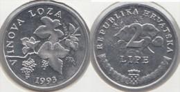 Croazia 2 Lipa 1993 (Vinova Loza) Km#4 - Used - Croazia