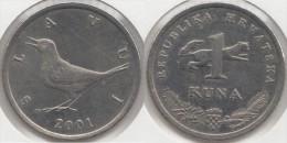 Croazia 1 Kuna 2001 (Slavuj) Km#9.1 - Used - Croazia