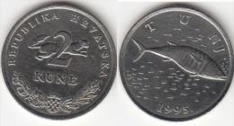 Croazia 2 Kune 1995 (Tunj) Km#10 - Used - Croazia
