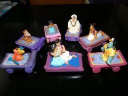 DISNEY - LOT 6 FIGURINES MAC DONALDS + 1 DISNEY - ALADDIN JASMINE GENIE - VOIR PHOTOS - Disney