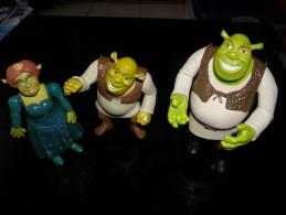 CINEMA - SHREK - LOT DE 3 FIGURINES ARTICULEES - VOIR PHOTOS - Figurines