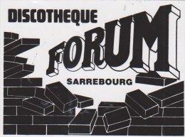 Autocollant Discotheque Forum Strasbourg - Autocollants