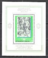 Bulgarien Bulgaria 1975 Kunst Kultur Holzschnitte Persönlichkeiten Künstler Maler Albrecht Dürer, Bl. 58 ** - Ungebraucht