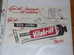 BUVARD Publicitaire  Bien Coiffé VITABRILL VITAPOINTE - Perfume & Beauty