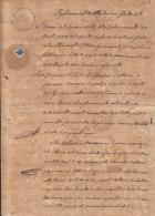 E1241 ITALY ITALIA SEALLED PAPER 1842 C.30 REVENUE - Italy