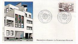 REF X8 FDC First Day Cover Enveloppe 1er Jour Europa 1987 Rob Mallet Stevens - 1980-1989