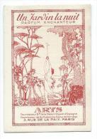 Carte Parfumée Parfum Arys Un Jardin La Nuit - Cartes Parfumées