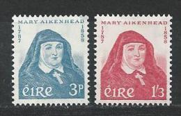Irlande 1958 N°138/139 Neufs ** MNH Mère Mary Aikenhead - Nuevos