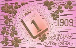 NOVELTY -  EMBOSSED JANUARY 1ST 1909  Nov30 - New Year
