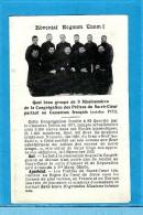 * QUEL BEAU GROUPE DE 9 MISSIONNAIRES DE LA CONGREGATION DES PRETRES DU SACRE COEUR PARTANT AU CAMEROUN 10/1935 - Religion & Esotérisme